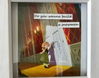 Do You Wanna Build A Snowman Shadowbox Frame
