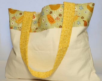 Hens Market Tote - All purpose tote - Reusable - Grocery tote - Shopping tote - Shoulder bag