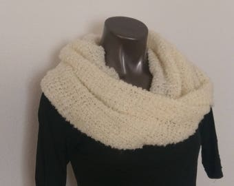 Cream Lite Long Infinity Scarf