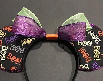 Halloween Minnie Ears, Ready to ship!