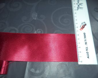 double width 6 cm new dark red faced satin ribbon