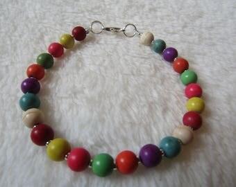 Semi Precious Turquoise Rainbow Bead Bracelet Gift Boxed