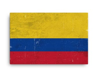 Colombia Flag, Colombia Flag Art, Colombian Flag, Colombia Flag Wall Art, Colombia Canvas, Colombia Flag Print, Poster, Colombian Gifts, Art