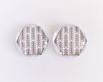 The 'Kirsty' Glass Earring Studs