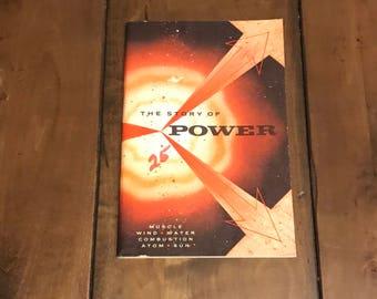 Vintage The Story of Power Booklet - Paperback 1956 General Motors Book By General Motors