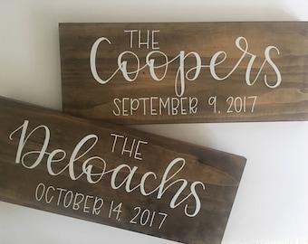 Wood sign | Family name sign | Wedding Sign | Family established wood sign | Custom Sign | Large Name Sign