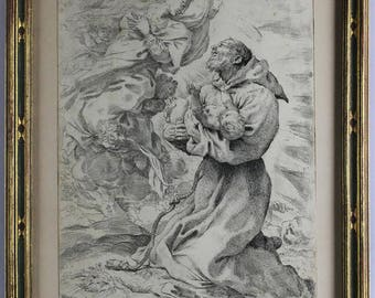 16th Century One-of-a Kind Etching by Pietro Faccini (ITALIAN 1562-1602)
