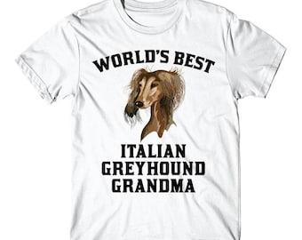 World's Best Italian Greyhound Grandma Dog Graphic T-Shirt