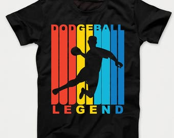 Retro 1970's Style Dodgeball Legend Kids T-Shirt