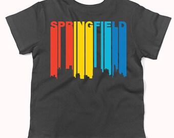 Retro 1970's Style Springfield Illinois Skyline Infant / Toddler T-Shirt