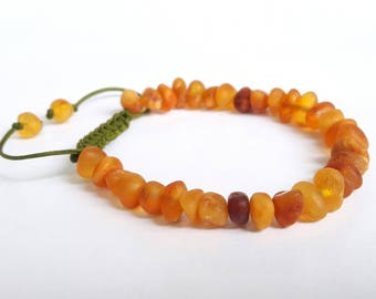 Unpolished raw amber bracelet natural amber bracelet genuine baltic amber raw unpolished amber bracelet eco gift real amber organic bracelet