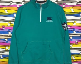 Rare!! Vintage CANTERBURRY Sweatshirt Small Logo Spellout