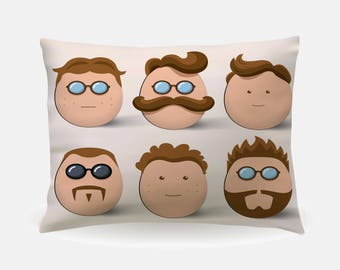 moustache retro hipster pillowcase standard pillowcase 30x20in standard bedding bed pillow case home