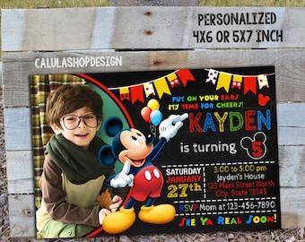 Mickey Mouse Invitation, Mickey Mouse Birthday, Mickey Mouse Party, Mickey Mouse Card, Mickey Mouse Printable, Mickey Mouse, Mickey, Mouse