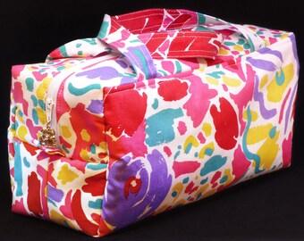 Large colourful wash bag