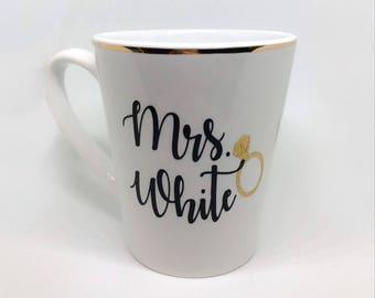 Custom wifey coffee mug