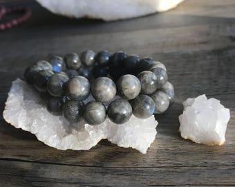 AAA labradorite bracelet / labradorite Beads Bracelet natural natural /pierre / fine gemstone jewelry / labradorite beads