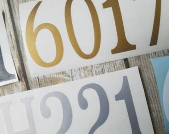 Mailbox Number Decals, Replacement Numbers for Mailbox, Gold Number Decal, Metallic Number Sticker, Gold Number, Silver Number