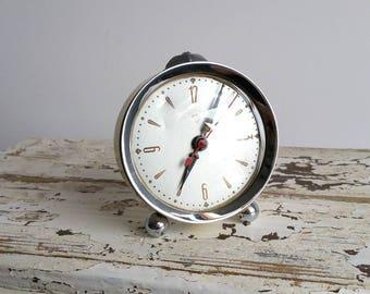 Old alarm clock white