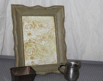 Antique Rustic Green Picture Frame Dry Erase Board 5x7