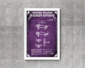 1957 Vertical Takeoff And Landing Airplane Patent, Aircraft Decor, Airplane Poster, Airplane Print, Airplane Art, Pilot Gift, VTOL