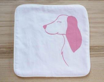 Doudou Dog/blanket/Dog cuddle blanket/Lovey Blankie/Baby blanket/Snuggle blanket/Baby security blanket