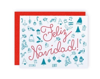 Feliz Navidad! - Letterpress Holiday Greeting Card