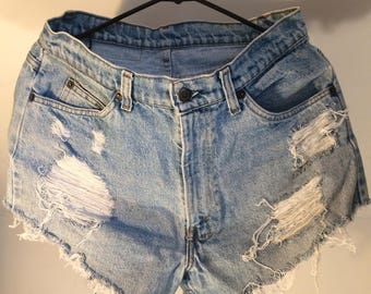 Levi's cut off denim shorts