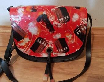BBC - Doctor Who - tardis dalek handbag - black/red - custom made