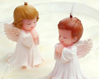 3D Cute Boy Girl Angel Silicone Candle Mold Resin Clay Soap Molds Baby Party Fondant