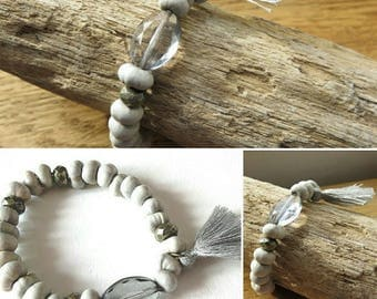 Assemblage bracelet and French creation