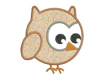 Owl Applique Design 9 sizes included.Machine embroidery design. Baby Embroidery design PES,Kid Embroidery, embroidery design,Applique