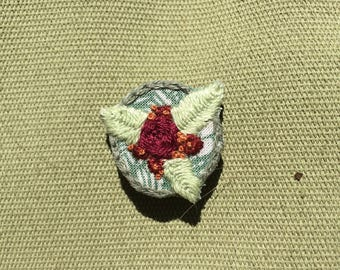 Three Leaf Flower Pin