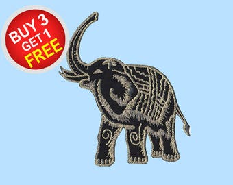 Elephant Patches Iron On Embroidered Patches Iron On Embroidered Applique