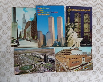 Set of 28 vintage  postcards and  one booklet of postcards, collectible postcard,  souvenir World cities, old postcards of USA New York city