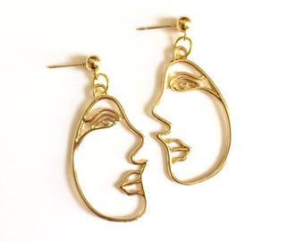 Funky Style Face Earrings