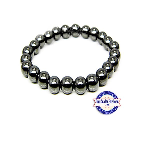 HEMATITE Bracelet, Magnetic Healing, Bead Style **FREE SHIPPING & Discounts*