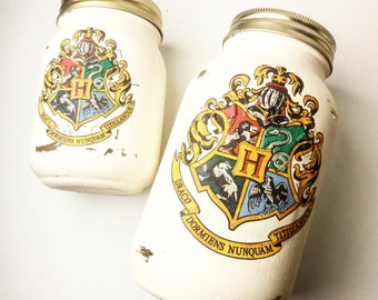 Harry Potter Style Mason Jars