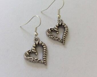 Heart earrings / heart jewellery / heart gift