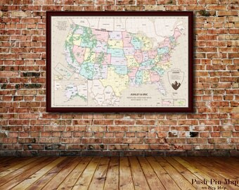 Large USA Map Travel Poster USA Travel Poster USA Map With - Large framed us map