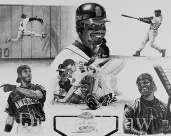 Ken Griffey Jr. Mariners Drawing Print