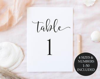 Table Numbers Printable, Table Numbers, Wedding Table Numbers, Printable Table Numbers, Wedding Table Numbers Printable, Instant Download
