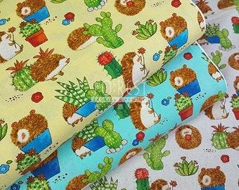 Cosmo cotton Cute Hedgehog fabric - 50cm