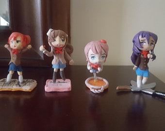 Doki Doki Literature Club Figure Set Of 4- Monika, Sayori,Yuri, Natsuki