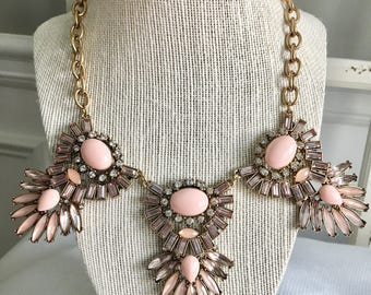 Pink Crystal Statement Necklace