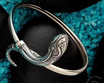 Silver Snake Bracelet, Snake Bracelet, Goddess Athina