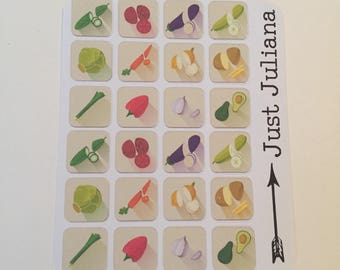 Meal Prep or Planner Mini Sticker Sheet By Just Juliana Shop