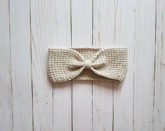 Adult Headband, Crocheted Ear Warmer - Rian Ear Warmer