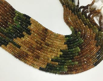 Fine quality Petro tourmaline 4mm faceted beads,petro tourmalime beads 13 inch