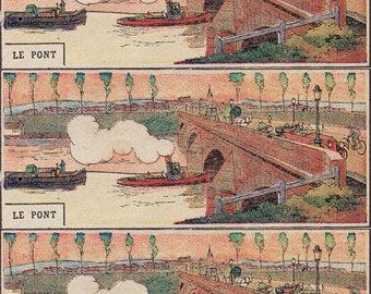 """Magnet Vintage """"Bridge"""" magnet, stationery, Planner, old, Old School kitchen Decoration"""